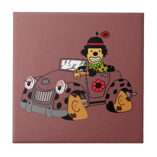 Clown in Car Tile