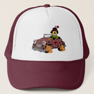 Clown in Car Trucker Hat