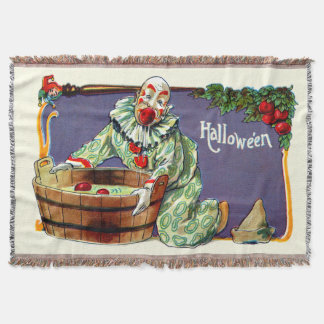 Clown Jester Bobbing For Apples Throw