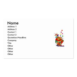 Clown Juggling Balls Business Cards