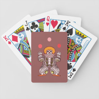 Clown Juggling Bicycle Playing Cards