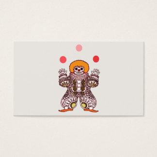 Clown Juggling Business Card
