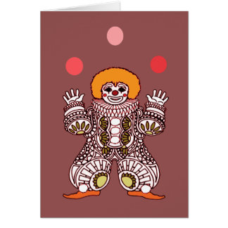 Clown Juggling Card