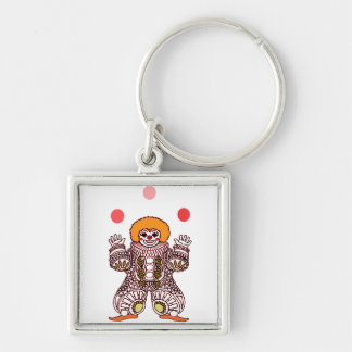 Clown Juggling Keychain