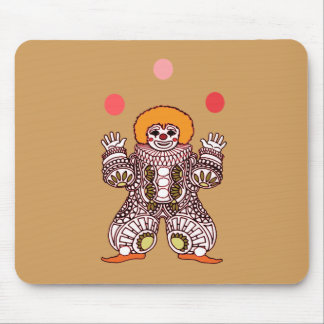 Clown Juggling Mouse Pad
