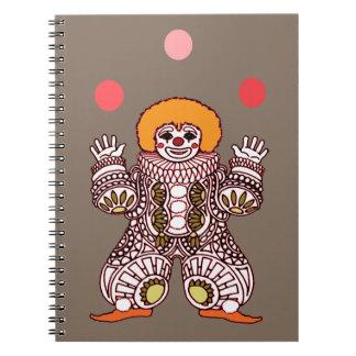 Clown Juggling Notebook