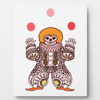 Clown Juggling Plaque