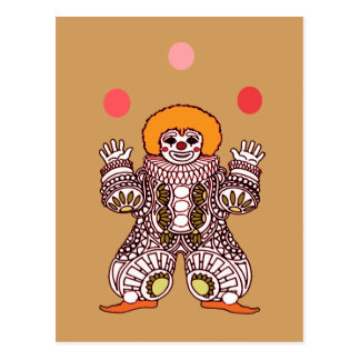 Clown Juggling Postcard