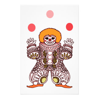 Clown Juggling Stationery