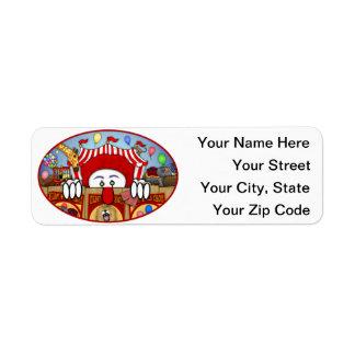 Clown Kilroy Address Label