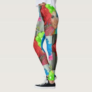 clown leggings fitness circus rainbow jester