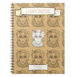 Clown Lineart Design Notebook
