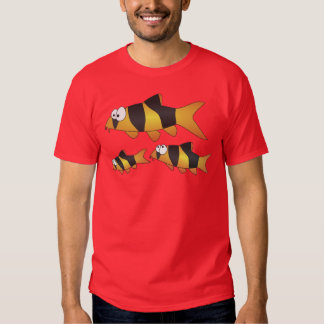 Clown loach family tshirts