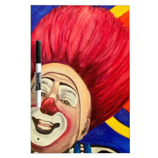 Clown Mark Carfora White Board Dry Erase Whiteboard