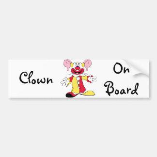 Clown on Board Bumper Sticker