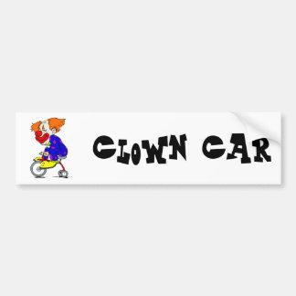 Clown on tricycle car bumper sticker