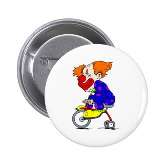 Clown on tricycle buttons