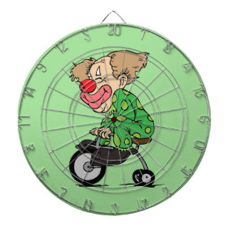 Clown on Tricycle Dartboard