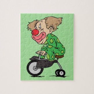Clown on Tricycle Jigsaw Puzzle