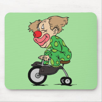 Clown on Tricycle Mouse Pad