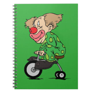 Clown on Tricycle Notebook