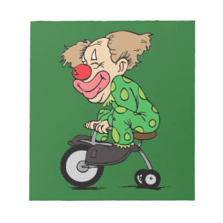 Clown on Tricycle Notepad