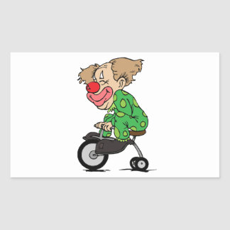 Clown on Tricycle Sticker