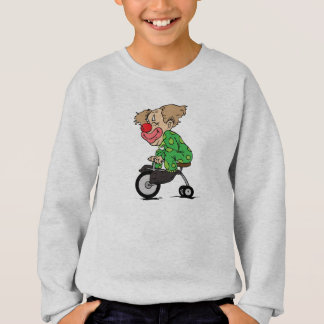 Clown on Tricycle Sweatshirt