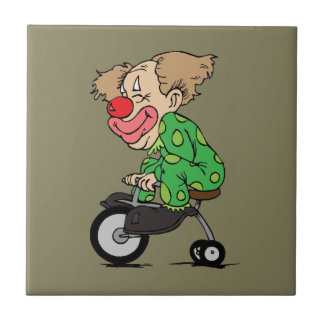 Clown on Tricycle Tile