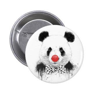 Clown panda 2 inch round button