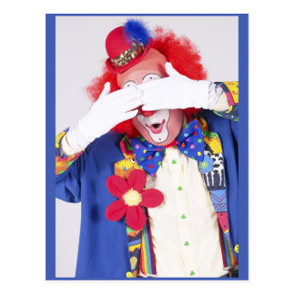 Clown Peekaboo Postcard