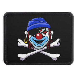 Clown Pirate Skull and Crossbones Trailer Hitch Cover