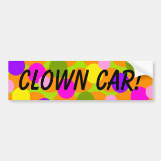 Clown Polkadot Gumballs Clown Car Bumper Sticker