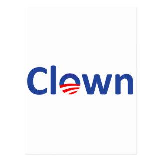clown postcard
