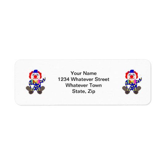 Clown Return Address Label