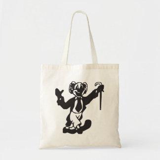 Clown Silhouette Tote Bag