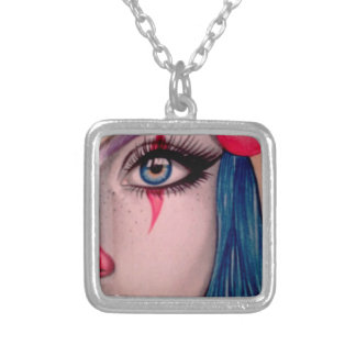 Clown Silver Plated Necklace