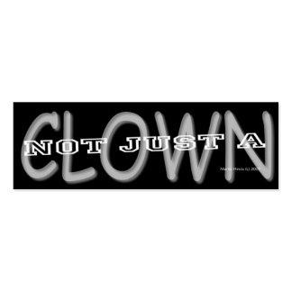 Clown - Social Media Personal Card Mini Business Card