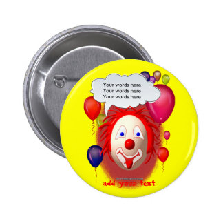 Clown Theme Party 2 Inch Round Button