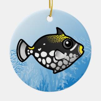 Clown Triggerfish Ceramic Ornament