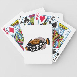 Clown Triggerfish Poker Deck