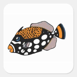 Clown Triggerfish Square Sticker