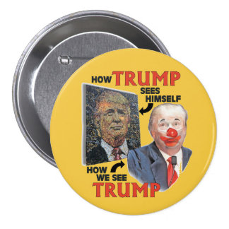 Clown Trump 3 Inch Round Button