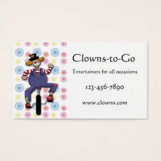 Clown Unicycle Business Card