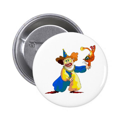 Clown with Cat Pin