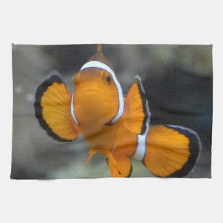 clownfish facing front kitchen towel