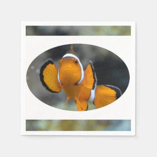 clownfish facing front paper napkin