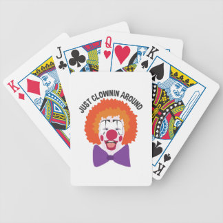Clownin Around Bicycle Playing Cards