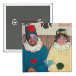 clowns 2 inch square button