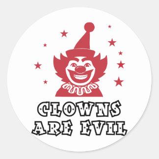 Clowns Are Evil Round Sticker